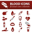 blood icons vector image