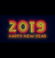 2019 happy new year poster vector image vector image