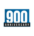 900th anniversary icon birthday logo vector image