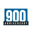 900th anniversary icon birthday logo vector image vector image