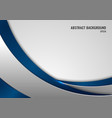 abstract template blue and gray curve on square vector image vector image