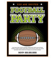 american football party invitation template vector image vector image