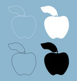 apple the black and white color icon vector image