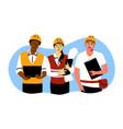 building industry teamwork engineering concept vector image vector image