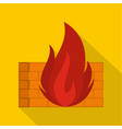 burning security icon flat style vector image vector image