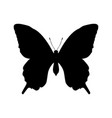 butterfly insect black silhouette animal vector image vector image