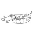 Cartoon image of sausage dog