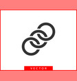 chain link icon chainlet element flat design vector image vector image