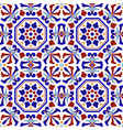 colorful ceramic pattern vector image vector image