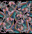 colorful paisley seamless pattern abstract vector image