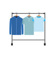 colorful silhouette of male clothes rack with vector image