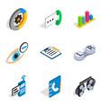 communication mailed icons set isometric style vector image vector image