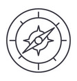 compass line icon sign on vector image vector image