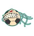 Crazy Soccer sticker vector image vector image