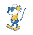 cute mouse cartoon vector image vector image
