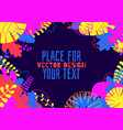 decorative tropical jungle vector image vector image