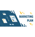 describing marketing plan a pencil vector image