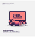digital transformation concept for presentation vector image