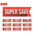 Discount tag flat and long shadow design vector image vector image