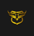 eagle hunting eagle with gold space on black vector image vector image