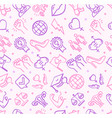 feminism signs seamless pattern background on a vector image
