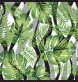 floral geometric tile pattern tropical leaves vector image vector image