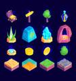 gaming landscape elements set vector image