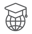 global education line icon e learning vector image