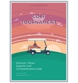 Golf Tournament Flat Poster vector image vector image