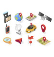 gps city navigation icon on isometric style vector image vector image
