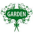 Green logo of floral ornament for the garden vector image vector image