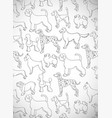 greeting card with cute cartoon dogs different vector image vector image