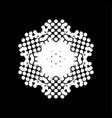 halftone isolated snowflake vector image