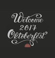 hand drawn lettering - welcome 2017 vector image vector image