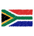 hand drawn national flag of south africa isolated vector image vector image