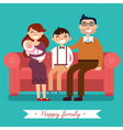 Happy Family with Newborn Baby vector image vector image