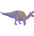 lambeosaurus dinosaur cartoon vector image vector image