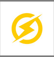 lightning bolt icon electric power vector image