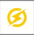 lightning bolt icon lightning electric power vector image
