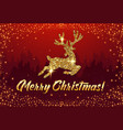 merry christmas congratulation banner with vector image