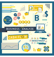Money finance Business Analyze icon design vector image vector image