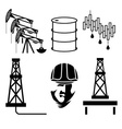 oil industry elements and symbol of fall and rise vector image