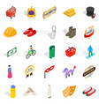 own icons set isometric style vector image vector image