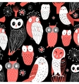pattern different owls vector image