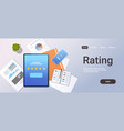 review five star rate feedback rating concept top vector image