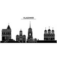 russia vladimir architecture urban skyline with vector image