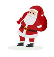 santa claus on white background for vector image vector image