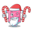 santa with candy baby wool clothes isolated on vector image