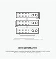 server storage rack database data icon line gray vector image