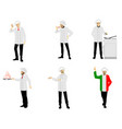set of chefs vector image
